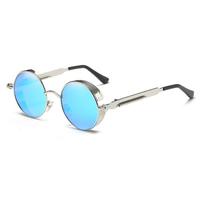 7157615b0 New Arrivel Brand Men Polarized Sunglasses Gothic Steampunk Coating  Mirrored Round Circle Sun Glasses Retro UV400