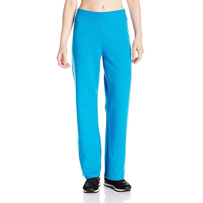 Hanes Womens Middle Rise Sweatpant [Deep Dive Heather, Large Petite]