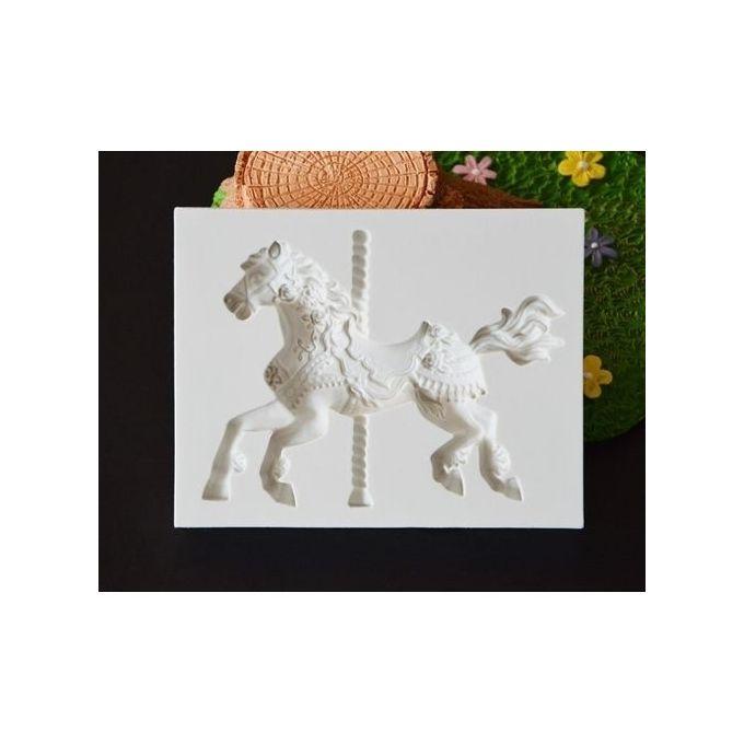 23732dfa1 ... 3D Carousel Horse Mold Fondant Cake Molds Silicone Mold Cupcake Mold  Baking Tools Chocolate Mold ...