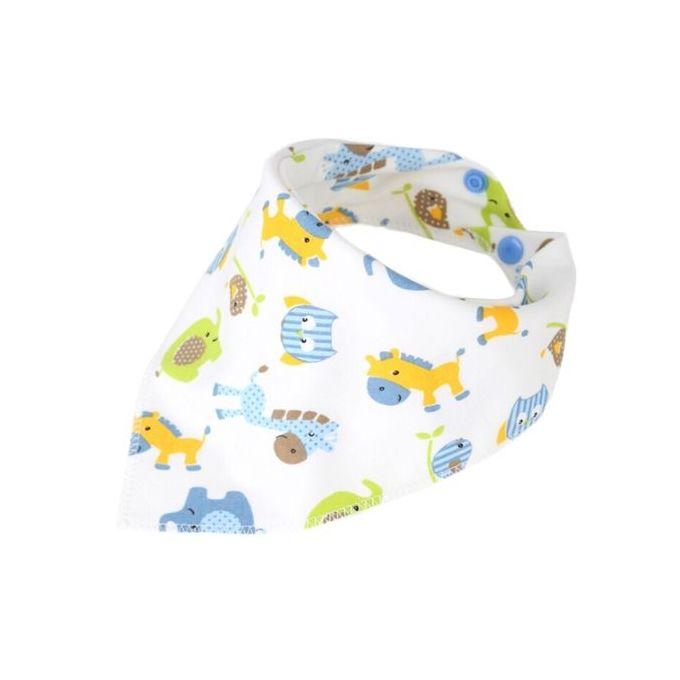2 Pcs  Cotton Newborn Baby Bibs Waterproof Bib Burp Cloth For Girls And Boys Double Side Baby Scarf –  مصر