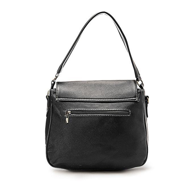 Fashionable Crossbody Bag - Black