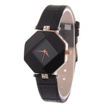 e3e1f6593 Waterproof Women Wristwatch Elegant Quartz Watch Ultra-Light Lozenge Gl  Black