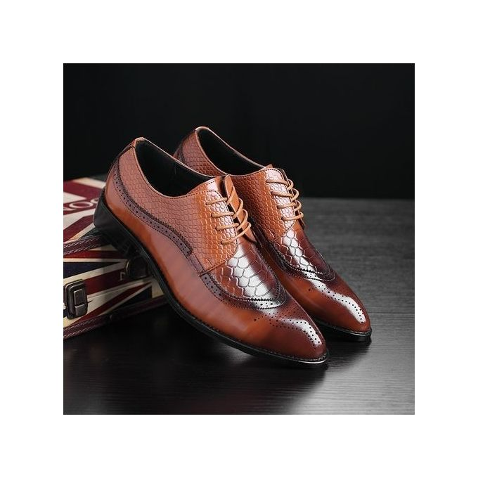 Sale On Oxford Formal Shoes Crocodile Pattern Bullock Wedding Shoes