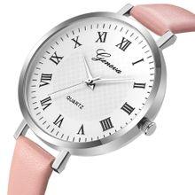 6c0716080bc Vogue Women Watches Leather Band Analog Quartz Round Alloy Wrist Watch Gift