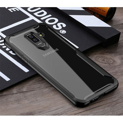 finest selection 16edf 74f41 Shockproof Case For Samsung Galaxy S10 S9 S8 Plus Note 8 9 Transparent Case  Cover For Samsung A8 A6 Plus 2018 Armor Case(Black)