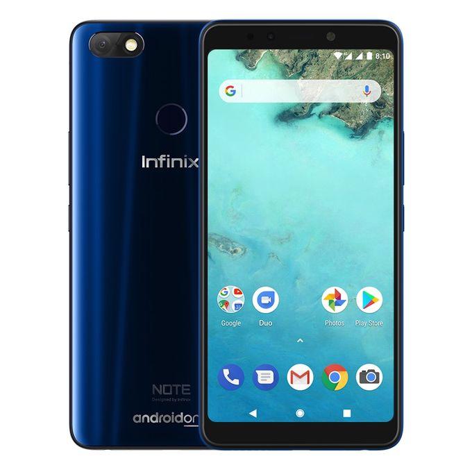 X604 Note 5 هاتف - موبايل ثنائي الشريحة 6.0 بوصة 32 جيجا بايت - أزرق