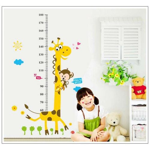 Sale On Kids Growth Chart Height Measure Wall Sticker For Diy Kids
