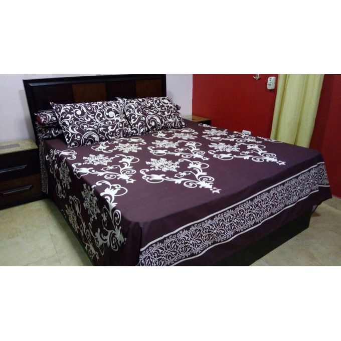 Bed Sheet Set – 5 Pcs – Dark Purple  –  مصر