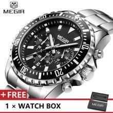 70a8643082c9a MEGIR Top Luxury Brand Watch Famous Fashion Sports Men Quartz Watches  Stainless Steel Wristwatch For Male