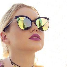 8c39838788c23 Luxury Cat Eye Women Sunglasses - Anti-Reflection UV 400 Protection Mirror  Lenses - Gold