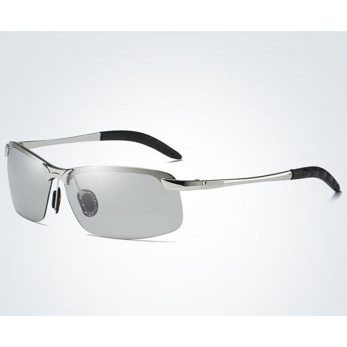 79e83d02a نظارات شمسية رجالية ليلا ونهارا نظارات القيادة نظارات ملونة تغيير اللون فضي