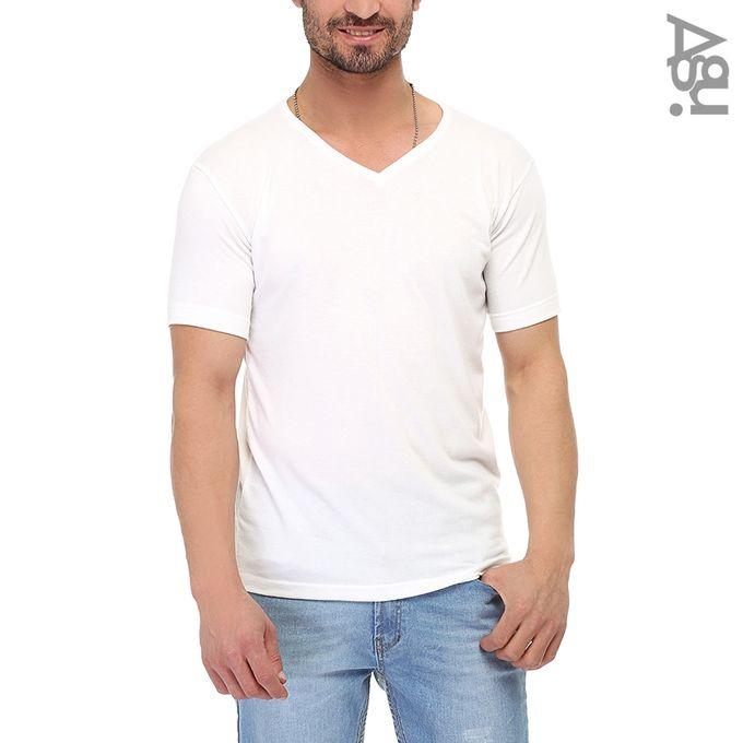 3c5ba1d6965 Sale on Half Sleeves Plain T-Shirt-Off White