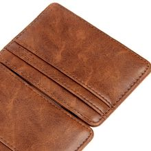 e6045cca7028 Fashion Luxury Mini Neutral Magic Bifold Leather Wallet Card Holder Wallet  Purse LC