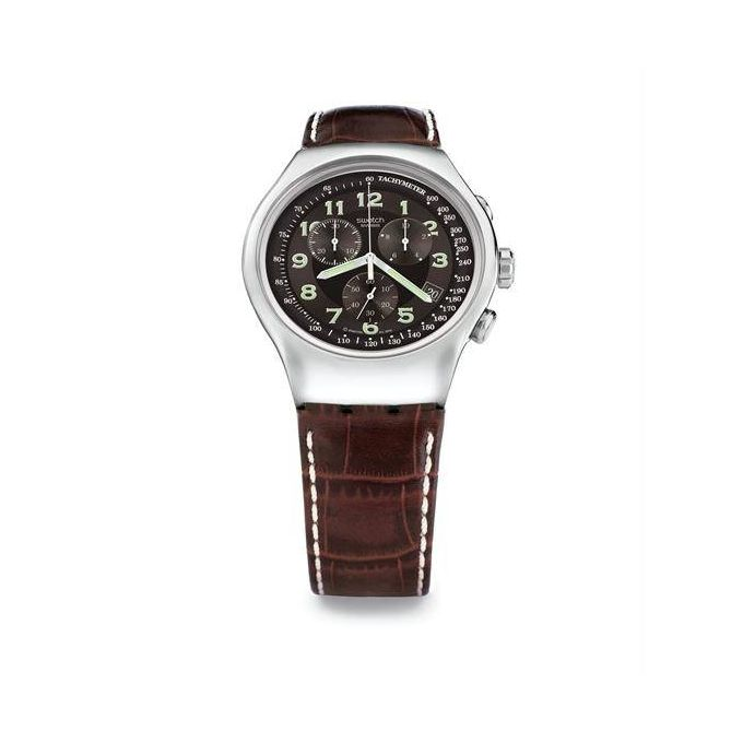 6f21d9046 عرض عيد ميلاد جوميا! تسوق Swatch Your Turn Men's Brown Dial Leather ...
