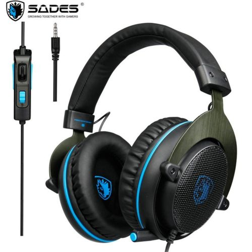 SADES R3 Over Ear 3 5mm Gaming Headphones Stereo Game Headset With Mic Bass  Volume Control For PS4 Computer PC Phone