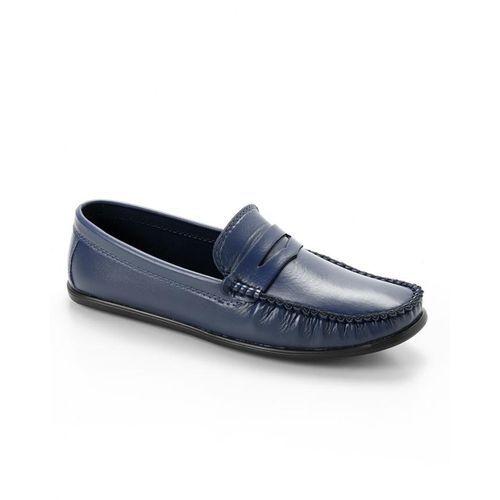 Elegant Slip On Men Shoes - Navy