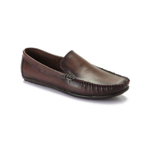 Elegant Genuine Leather Men Shoes - Brown