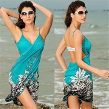 afb70fcbfb Hot Sexy Floral Bikini Swim Suit Bathing Suits Swimwear Cover Up Beach Dress -White