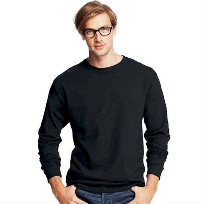 Hanes Mens 5.2 Oz Comfortsoft Heavyweight T-Shirt [Black, L US (Chest 42-44)]