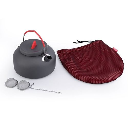 Alocs Aluminum CW-K03 Outdoor Kettle Camping Picnic Water Teapot Coffee Pot -red