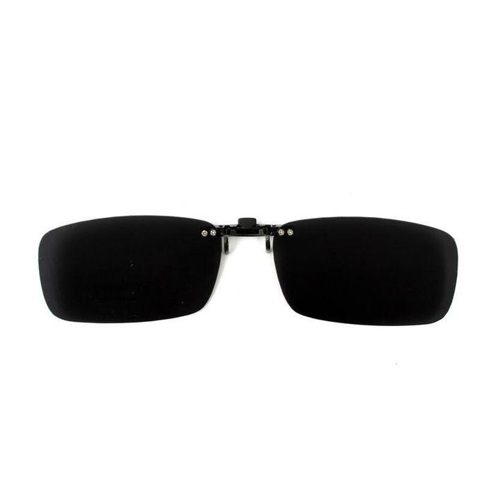 2PCS Driving Polarized UV 400 Lens Clip-on Flip-up Sunglasses Glasses Black+ 726d668693e2