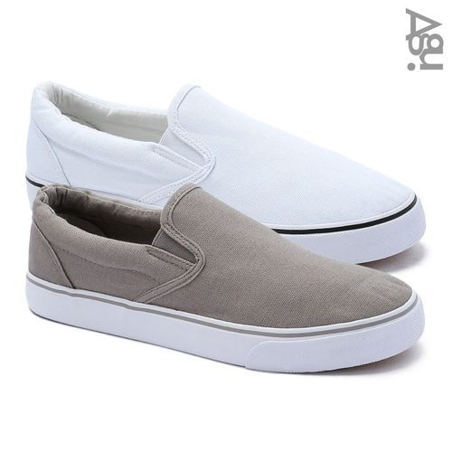 Bundle Of Two Slip On Sneakers - Taupe & White