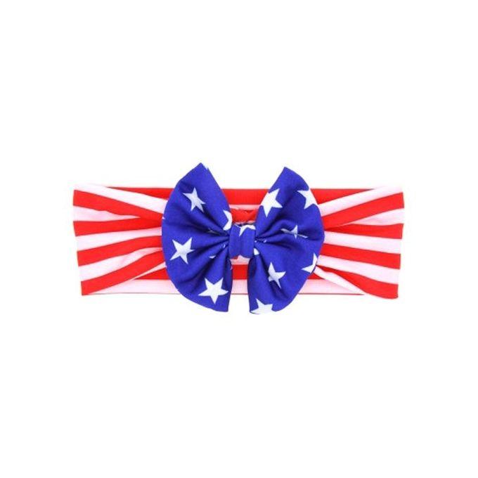 USA America Flag Hair Scrunchies Hairband Elastic Tie Band Headband PACK OF 2