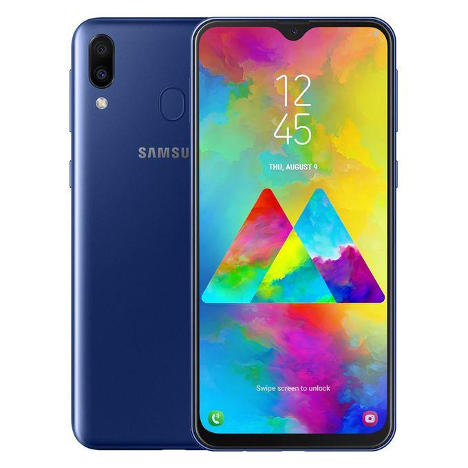 Samsung موبايل جلاكسي M20 - 6.3 بوصة ثنائي الشريحة 32 جيجا بايت - أزرق