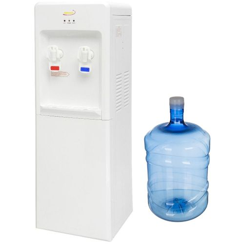 Water Dispenser With Bottle - White - 19 L