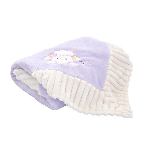 Baby Blanket Double Laywer Flannel Swaddling Super-Soft Cartoon Animal  Bedding For Stroller Crib Cuddle 30*40inch Purple Sheep