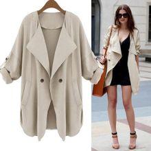 4520d7acd Hiaojbk Store Autumn Womens Long Sleeve Cardigan Top Coat Jacket-Khaki