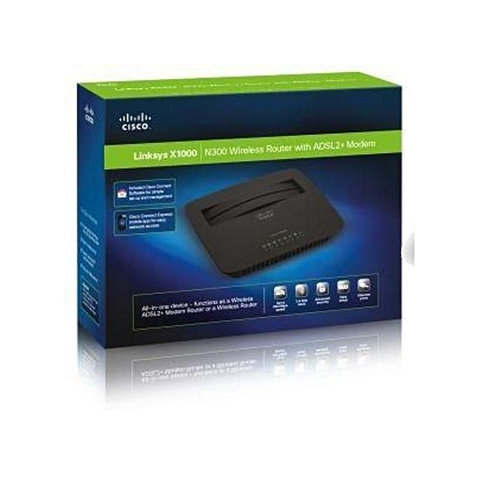 Sale on linksys x1000 n300 wireless router with adsl2 modem httpsegjumiaykbsgled14kkajajcvtnbhuhnvefit in x1000 n300 wireless router greentooth Choice Image