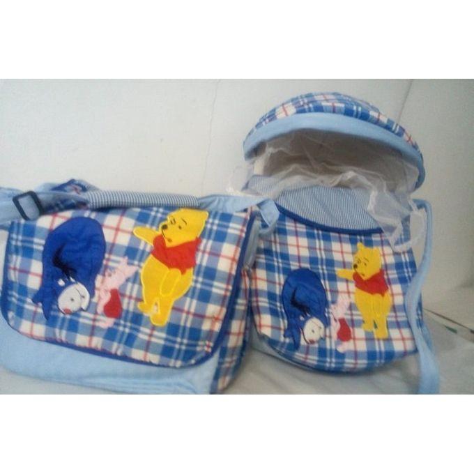 Printed Baby Travel Bag Set ( Baby Carrier-Sleeping Bag And Diaper Bag ) –  مصر