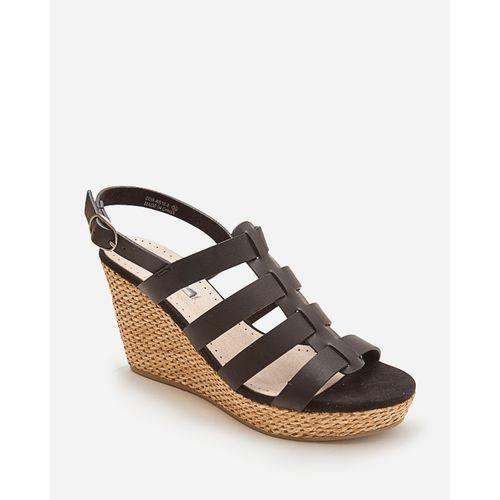 Wedged Sandals - Black