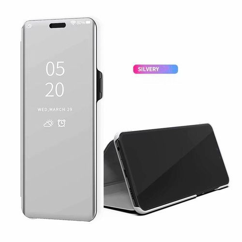 new product 15696 45383 Clear View Smart Mirror Case For Xiaomi Redmi Note 5 Pro, Flip Case PU  Leather Smart Window View Stand Full Cover For Xiaomi Redmi Note 5 Pro