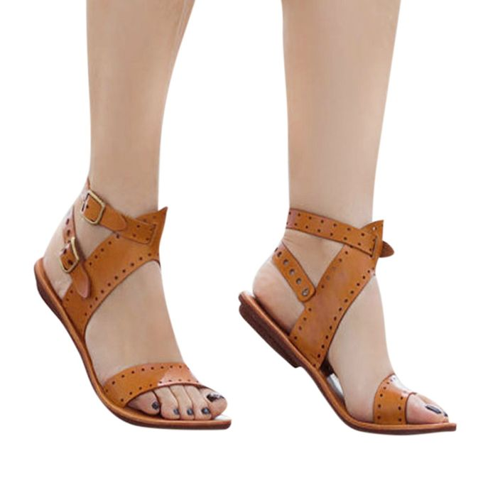 94cc44f5b Tectores Fashion Trend Summer Ladies Women Sandals Fashion Flat Roman Shoes  Casual Shoes