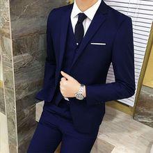 3ff2d37c5 Stylish Men's Leisure Bridegroom One Button Plus Size Suits Blazer Sets