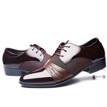 New Men s Dress Formal Oxfords Leather Shoes Business Casual Shoes Dress  Casual Brown-EUBrown 3671b3c8df72