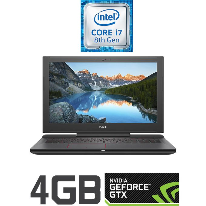 G5 15-5587 Gaming Laptop - Intel Core I7 - 16GB RAM - 1TB HDD + 256GB SSD -  15 6-inch FHD - 4GB GPU - Ubuntu - Black