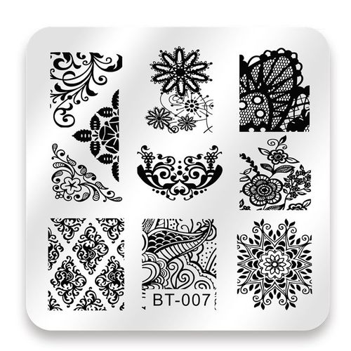 BT-007 Square Stamping Nail Art Plate