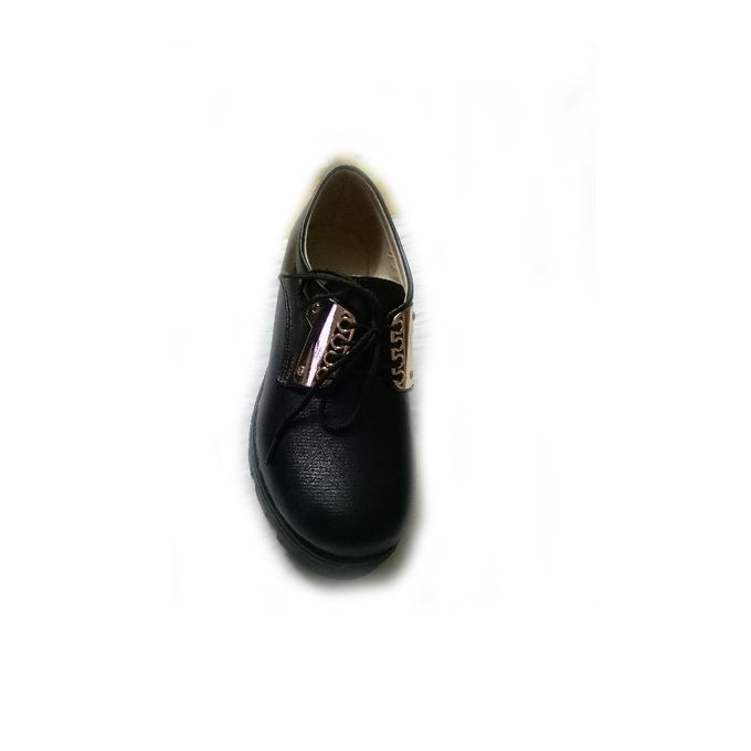 Leather Lace Up Shoes - Black