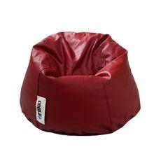 Regular Leather Bean Bag   Burgundy