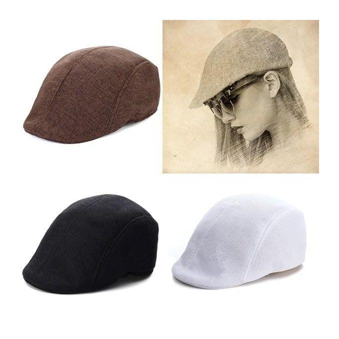 02990505ac4 ... Mens Womens Duckbill Ivy Golf Cap Driving Flat Cabbie Newsboy Gatsby  Beret Hat Black