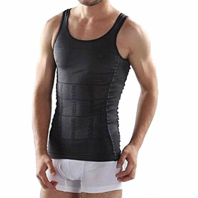 dd300079c3 TB Men Body Slimming Tummy Shaper Belly Underwear Shapewear Waist Girdle  Shirt Black ...