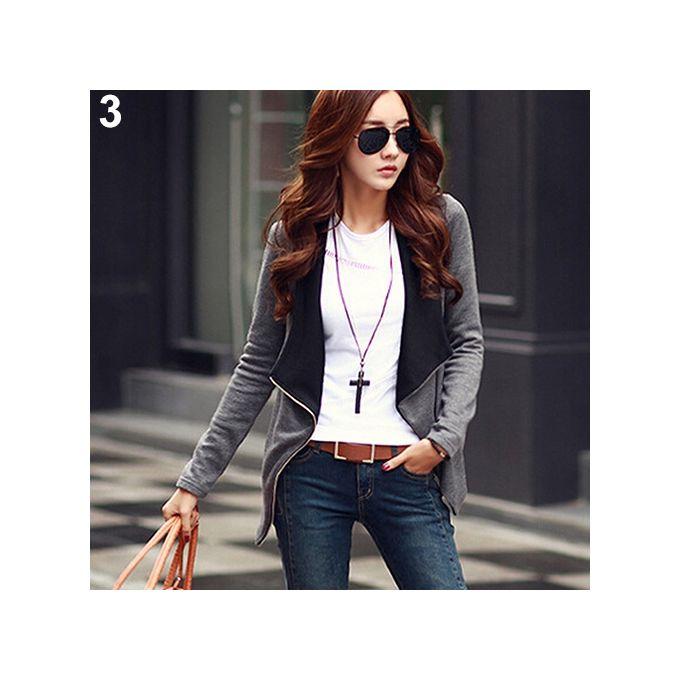 c3b6de931a24 Sale on Fashion Women Korean Style Slim Coat Blazer Jacket Casual ...