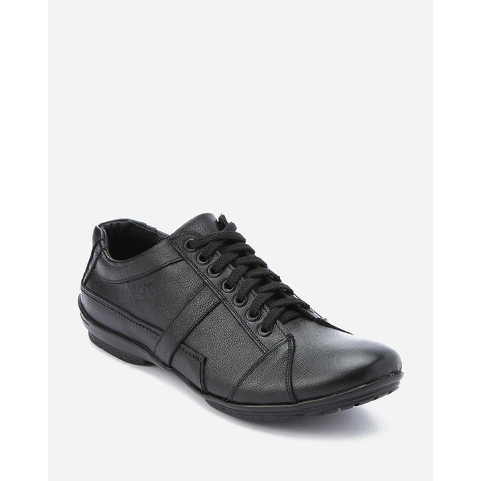 Sale on Leather Lace Up Shoes - Black  554df4f40fca
