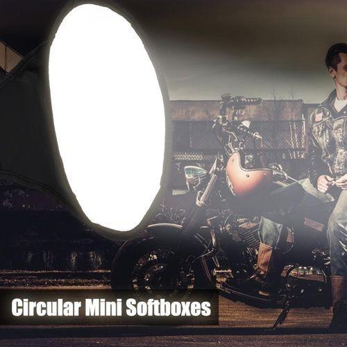Mandalaa Diffuser Softbox 20 X 30Cm Universal Foldable Flash Light Diffuser Softbox Soft Box for Canon for Nikon DSLR Camera Water Bottle Pouch