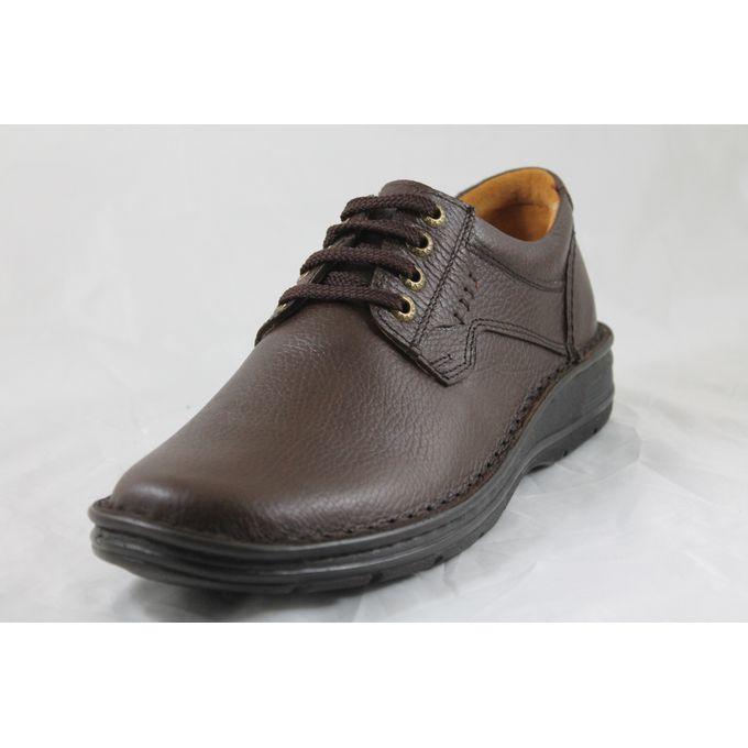d95061098 حذاء كاجوال جلد طبيعى/شمواه - بني - Jumia مصر