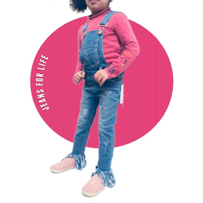 cde082a3f1e ... Backless Rompers Jumpsuit Classic Light-Blue Denim Children s Playsuit  Ripped Distressed Denim Raw Edge Dungarees Casual Holiday Outfits Size  3-6  Years