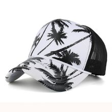 3f922a48912 Xiuxingzi Women Men Coconut Tree Printing Baseball Cap Snapback Hip Hop  Flat Hat BK